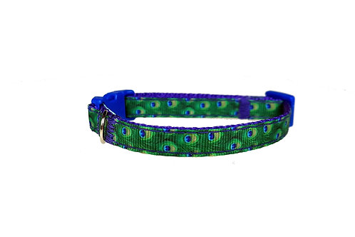 Peacock Feathers Cat Collar