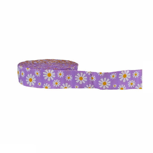 19mm Wide Daisies on Purple Martingale Collar