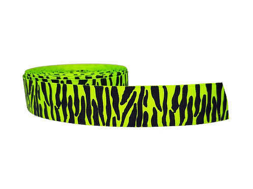 25mm Wide Green Zebra Martingale Collar