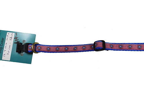 12.7mm Wide Captain America Dog Collar