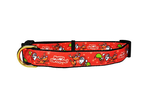 25mm Wide Merry Christmas Dog Collar