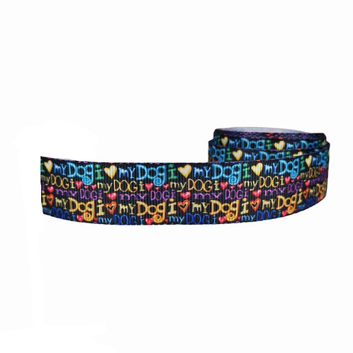25mm Wide I Love My Dog Double Ended Lead