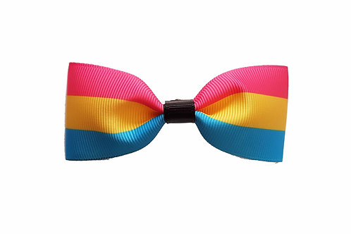 Small Pansexual Flag Hairbow