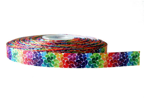 19mm Wide Rainbow Petals Martingale Collar