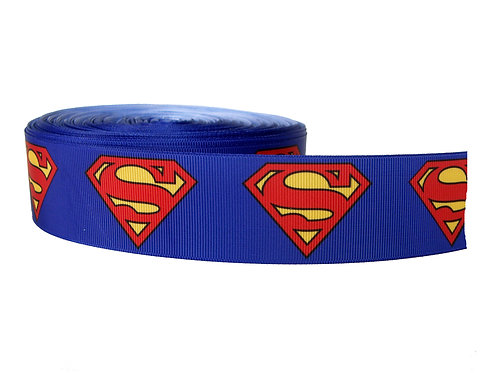 38mm Wide Superman Martingale Dog Collar