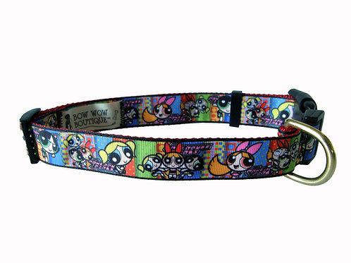25mm Wide Powerpuff Girls Dog Collar
