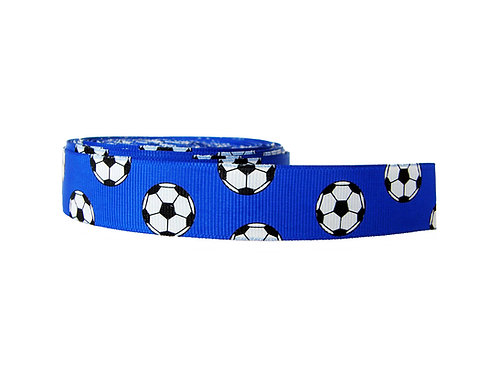 25mm Wide Soccer Balls on Dark Blue Martingale Collar