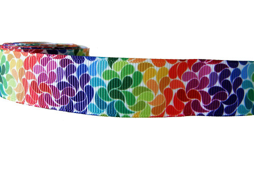 25mm Wide Rainbow Petals Martingale Collar