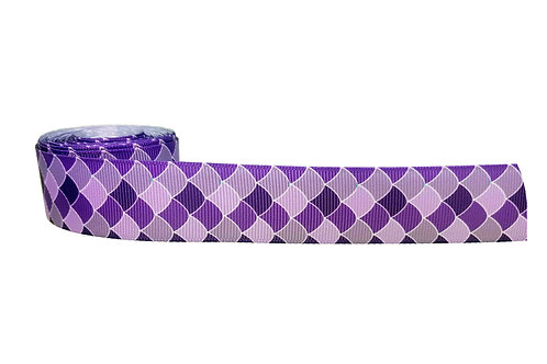 25mm Wide Purple Mermaid Scales Lead