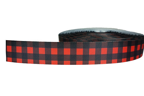 25mm Wide Buffalo Plaid Double Ended Lead