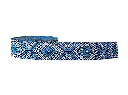 25mm Wide Blue Aztec Double Ended Lead