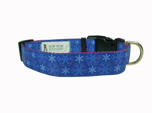 25mm Wide Blue Ice Dog Collar