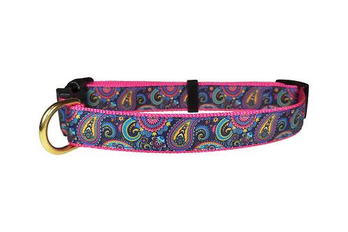 25mm Wide Midnight Paisley Dog Collar