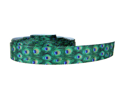 19mm Wide Peacock Feather Martingale Collar