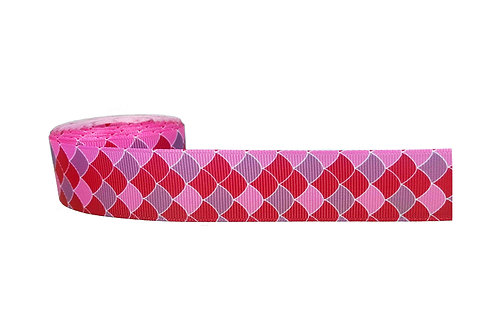25mm Wide Pink Mermaid Scales Martingale Collar