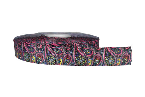 25mm Wide Pink Paisley Martingale Collar