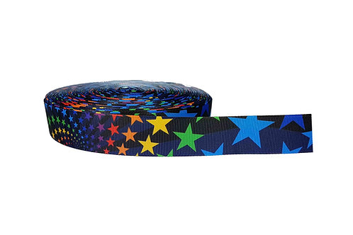 25mm Wide Rainbow Stars Martingale Collar