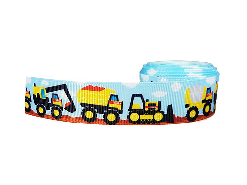 25mm Wide Trucks & Diggers Double Ended Lead