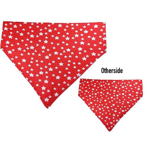 Large White Stars on Red Bandana