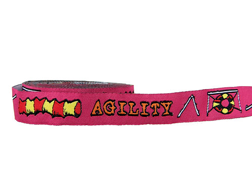 19mm Wide Pink Agility Martingale Collar