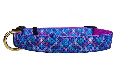 25mm Wide Purple Mermaid Dog Collar