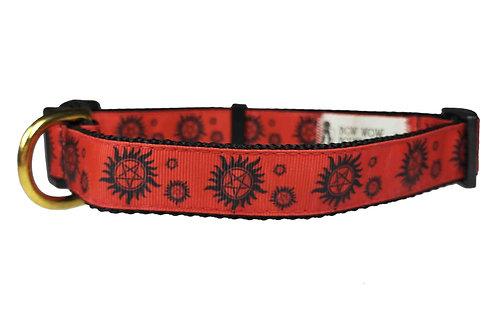 25mm Wide Supernatural Red Dog Collar