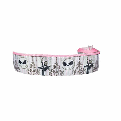25mm Wide Jack Skellington Dog Collar