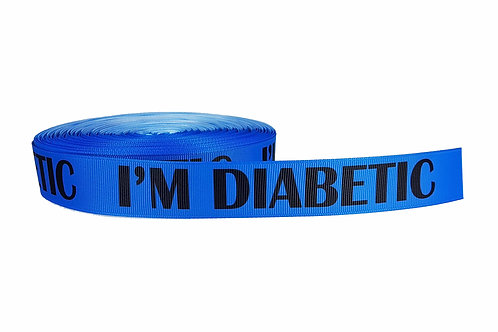 25mm Wide I'm Diabetic Double Ended Lead