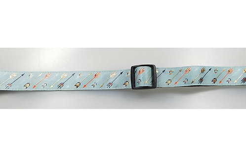 25mm Wide Arrows on Mint Dog Collar