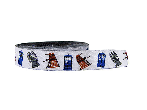 19mm Wide Dr Who Martingale Collar
