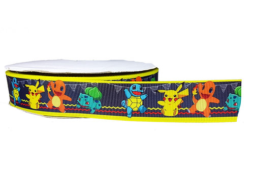25mm Wide Pokemon Party Martingale Collar