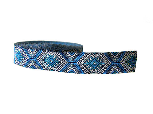 19mm Wide Blue Aztec Martingale Collar