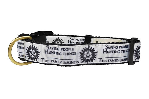 25mm Wide Supernatural White Dog Collar