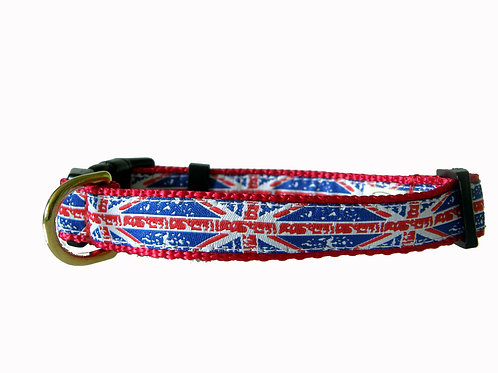 19mm Wide Union Jack Dog Collar