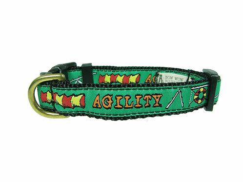 19mm Wide Green Agility Collar