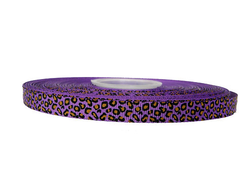 12.7mm Wide Purple Leopard Double Ended Lead
