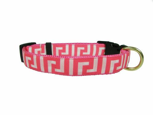 19mm Wide Pink Greek Key Collar