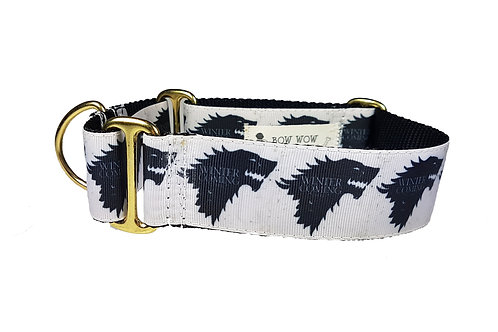 38mm Wide Game of Thrones Martingale Dog Collar