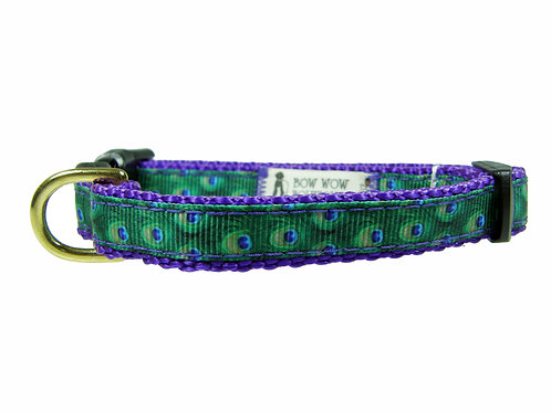 12.7mm Wide Peacock Feathers Collar