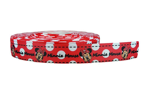 25mm Wide Minnie Mouse (Red) Martingale Collar