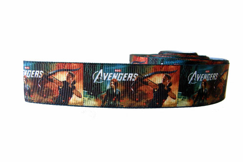 25mm Wide Hawkeye & Black Widow Martingale Collar