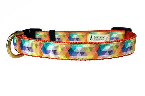 19mm Wide Multi Coloured Triangles Collar