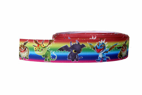 25mm Wide How to Train your Dragon Martingale Collar