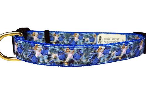25mm Wide Dr Who Tardis Dog Collar