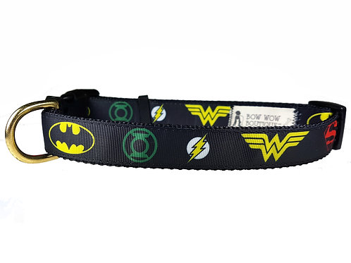 25mm Wide Justice League Dog Collar