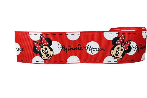 38mm Wide Minnie Mouse (Red) Martingale Collar