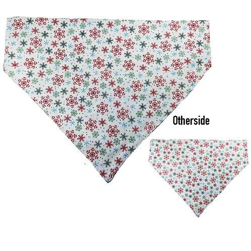 Large Snowflakes on White Bandana