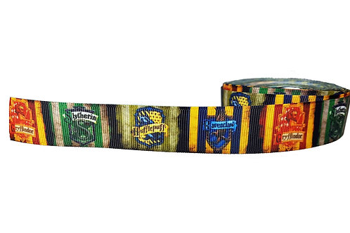 25mm Wide Harry Potter Houses Dog Collar