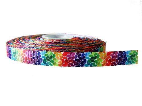 19mm Wide Rainbow Petals Lead