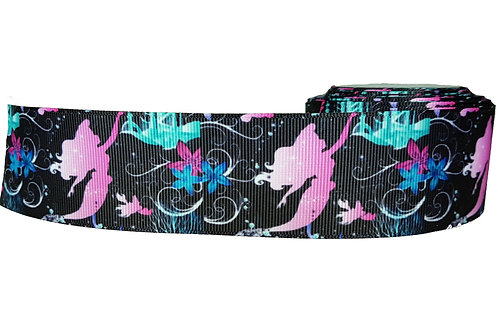 38mm Wide The Little Mermaid Martingale Dog Collar